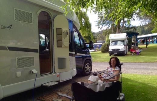 Madan and Rafe at Coromandel Motor camp