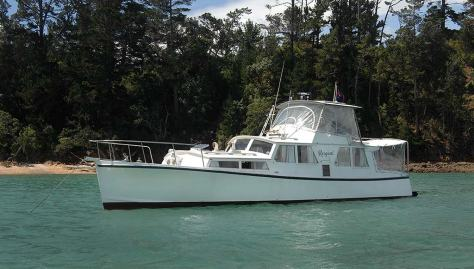 Rorqual at Patio Bay, Waiheke in 2013