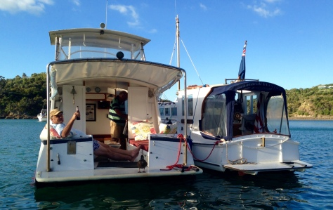 Rafted with Raindance in Owhanake Bay, Waiheke Island