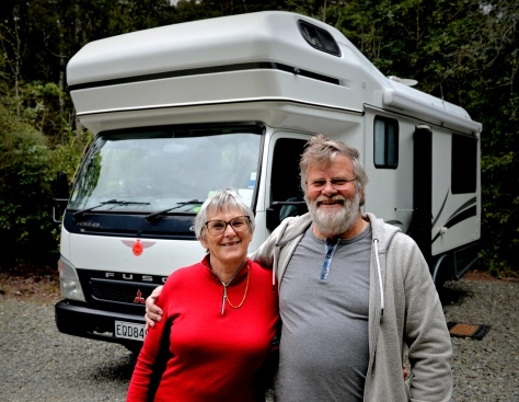 Chris and Gary with their Motorhome