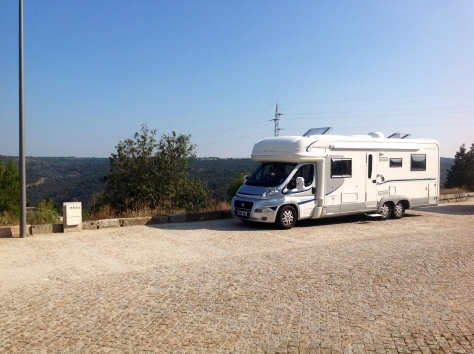 Eric and Shazza's Autotrail, somewhere in Portugal