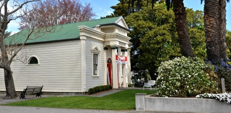 The original Masonic Lodge in Greytown, now a design furniture store