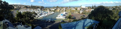 A view from the deck over the Marina