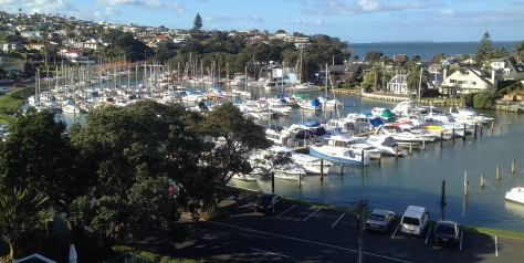 The view over Milford Marina