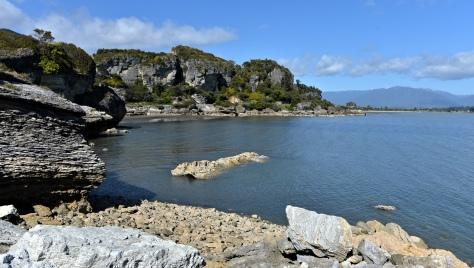 The rocks by Pohara boat club
