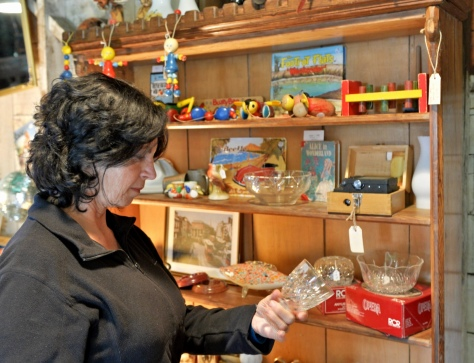 Madam with some glassware