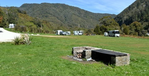 Motorhome parking at Lyall