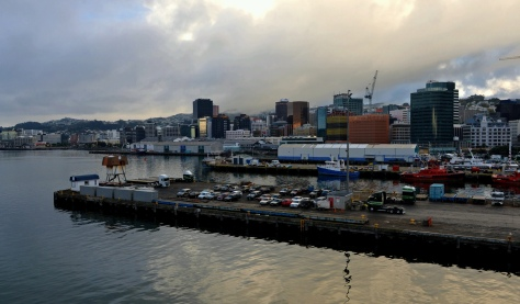 Early morning Wellington from the ferry
