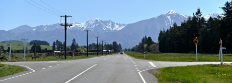 Over the mountains on the road from Darfield to Christchurch