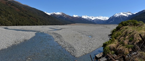 Klondyke in the Arthur's pass national park