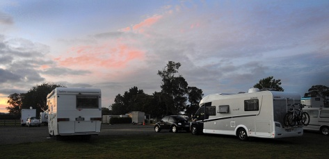 Our last night at the NZMCA park on Sunday night