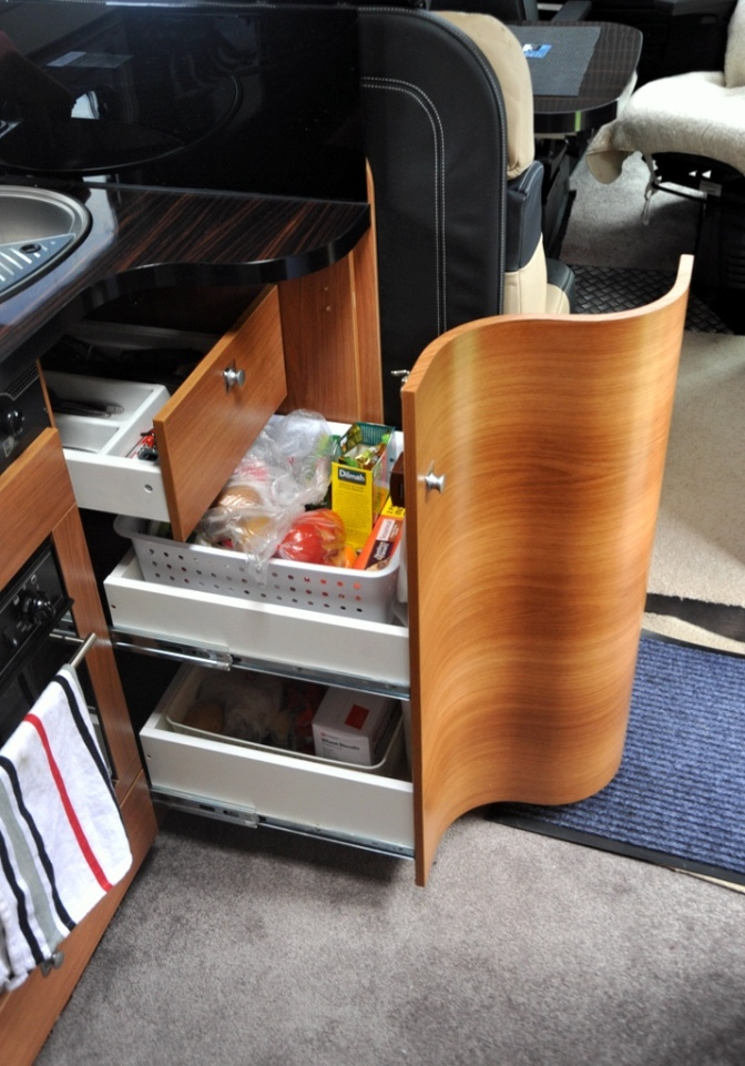 The slide out cupboard
