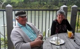 Bert And Margaret enjoying breakfast