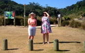 Helen and Fiona at Matapouri