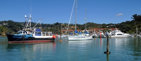 Looking back from the Marina