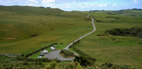 The winding road to the carpark