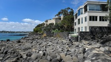 Foreshore houses, Takapuna in the distance