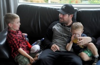 Ayden, Dad Alex(my son) and Liam