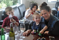 Ayden, Fiona, Liam with cousin Jessa