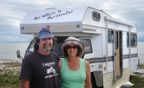 Mark & Tina with their new Motorhome