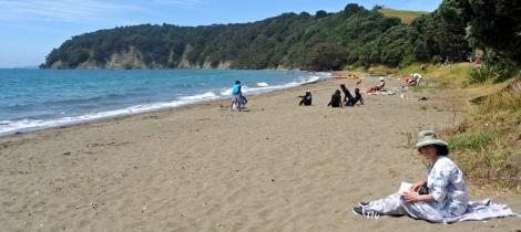 Fiona on the beach