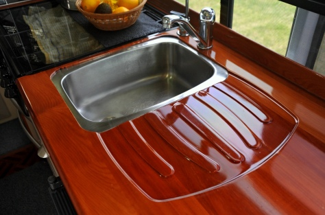 The CNC routed Matai bench top