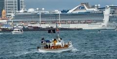 Ferro with visiting Passenger ship