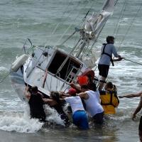 Drama on Milford Beach