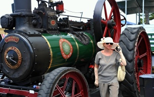With the traction engine