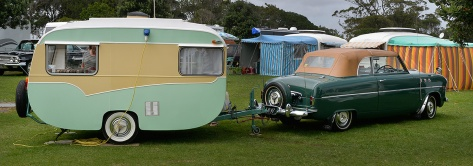 Vintage Caravans and cars