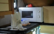 Neat little spot fit microwave and jug