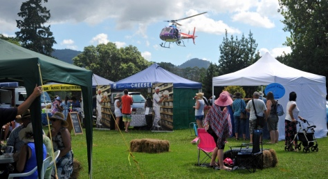 The proceeds of the festival were for the local rescue helicopter.