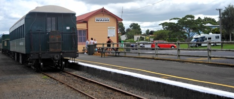 Waihi station with the parking behind