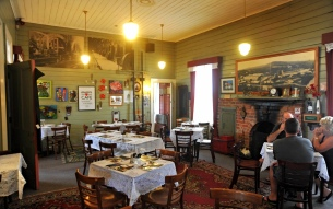 Inside the cafe at Waikino station