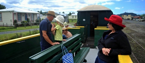 Pulling out of Waihi, off to Waikino