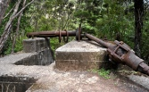 The battery end of the skyway ore buckets. (Flying fox)