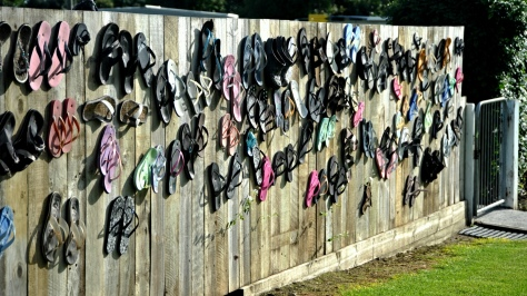 Jandal covered fence