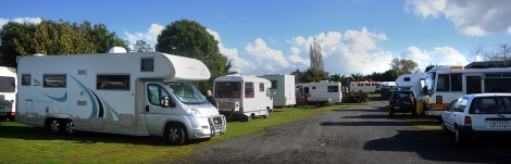 Motorhome Friends with their vans