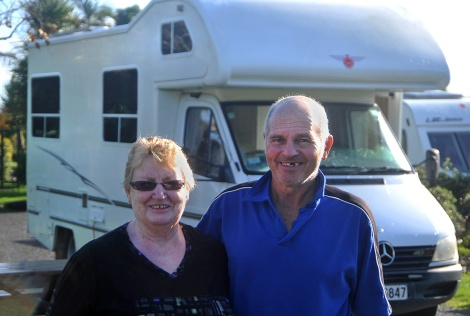 Carol and Roger from Waiuku at Miranda Holiday park