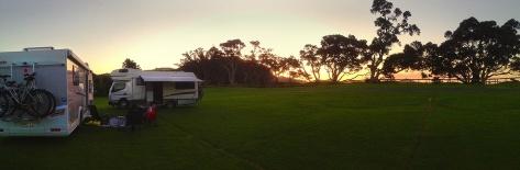 Us enjoying the sunset at Otamuri