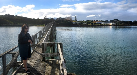 The Whananaki Bridge with the school on the other side.