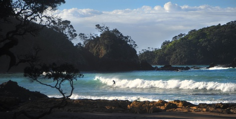 Surfing at Moureeses Bay
