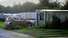 Some of the permanent caravans