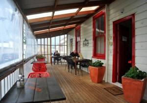 The outside Cafearea