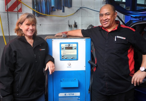 Jane and Monty with The Nitrogen machine