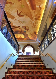 Upstairs with the ceiling