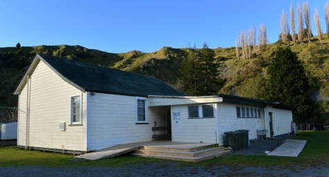 The Schoolhouse now houses a kitchen, toilets and showers