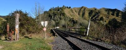 The rail bridge at Whangamomona