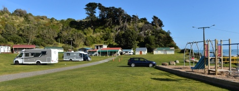 The campground. Office in the background