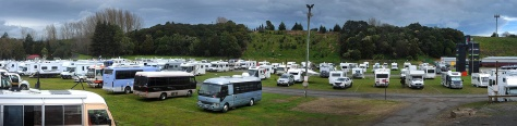 Motorhomes and Caravans as far as the eye can see. Click on the image to enlarge.